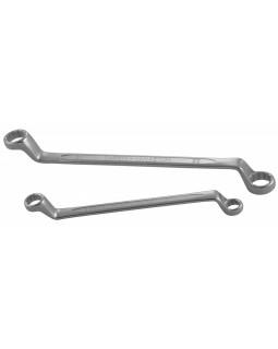 Ключ гаечный накидной изогнутый 75°, 19х22 мм