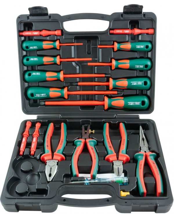 PSV118S Набор диэлектрический, отверток стержневых и шарнирно-губцевого инструмента, 18 предметов