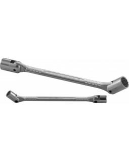 Ключ с шарнирными торцевыми головками (карданный) 17х19 мм