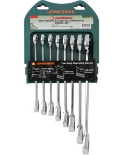 Набор ключей комбинированных трещоточных 10-19 мм, 8 предметов