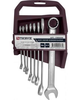 Набор ключей комбинированных на пластиковом держателе 8-19 мм, 8 предметов