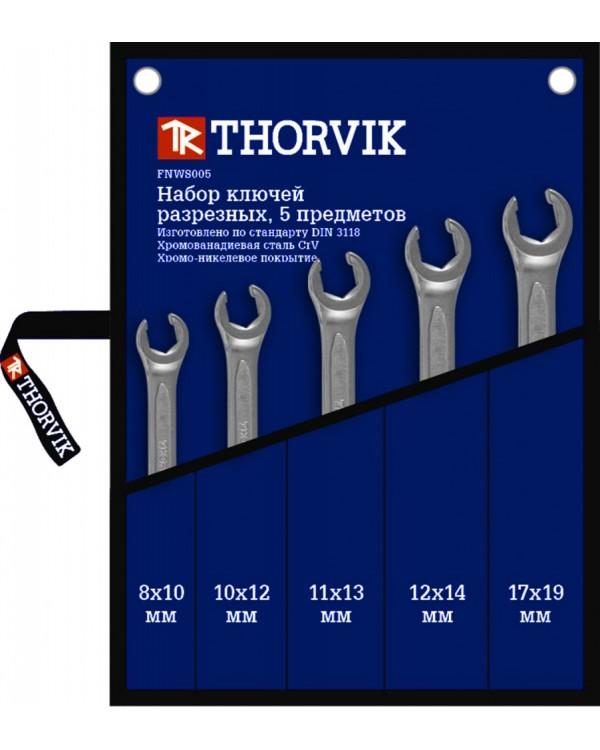 Набор ключей разрезных в сумке 8-19 мм, 5 предметов