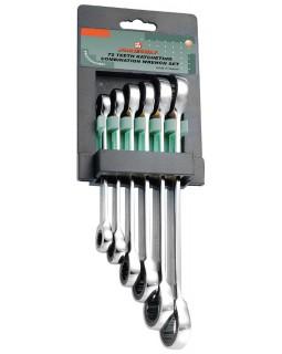 Набор накидных трещоточных ключей 8-19 мм 6 предметов