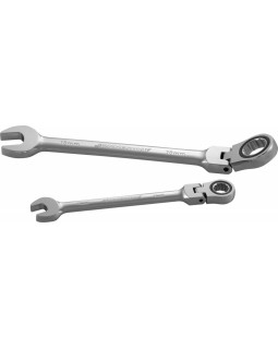 Ключ комбинированный трещоточный карданный, 17 мм