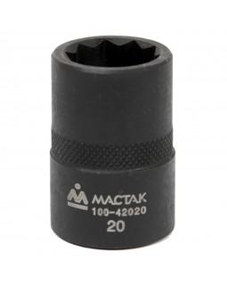 """Головка торцевая десятигранная для рычагов Honda CR-V 1/2"""", 20 мм МАСТАК 100-42020"""