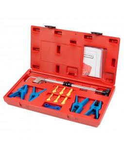 Набор заглушек для патрубков с металлическими наконечниками, зажим, кейс, 12 предметов МАСТАК 102-10