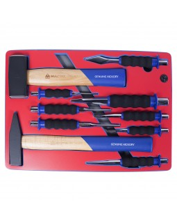 Набор ударно-режущего инструмента, ложемент, 10 предметов МАСТАК 5-9010