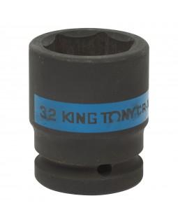 "Головка торцевая ударная шестигранная 3/4"", 32 мм KING TONY 653532M"